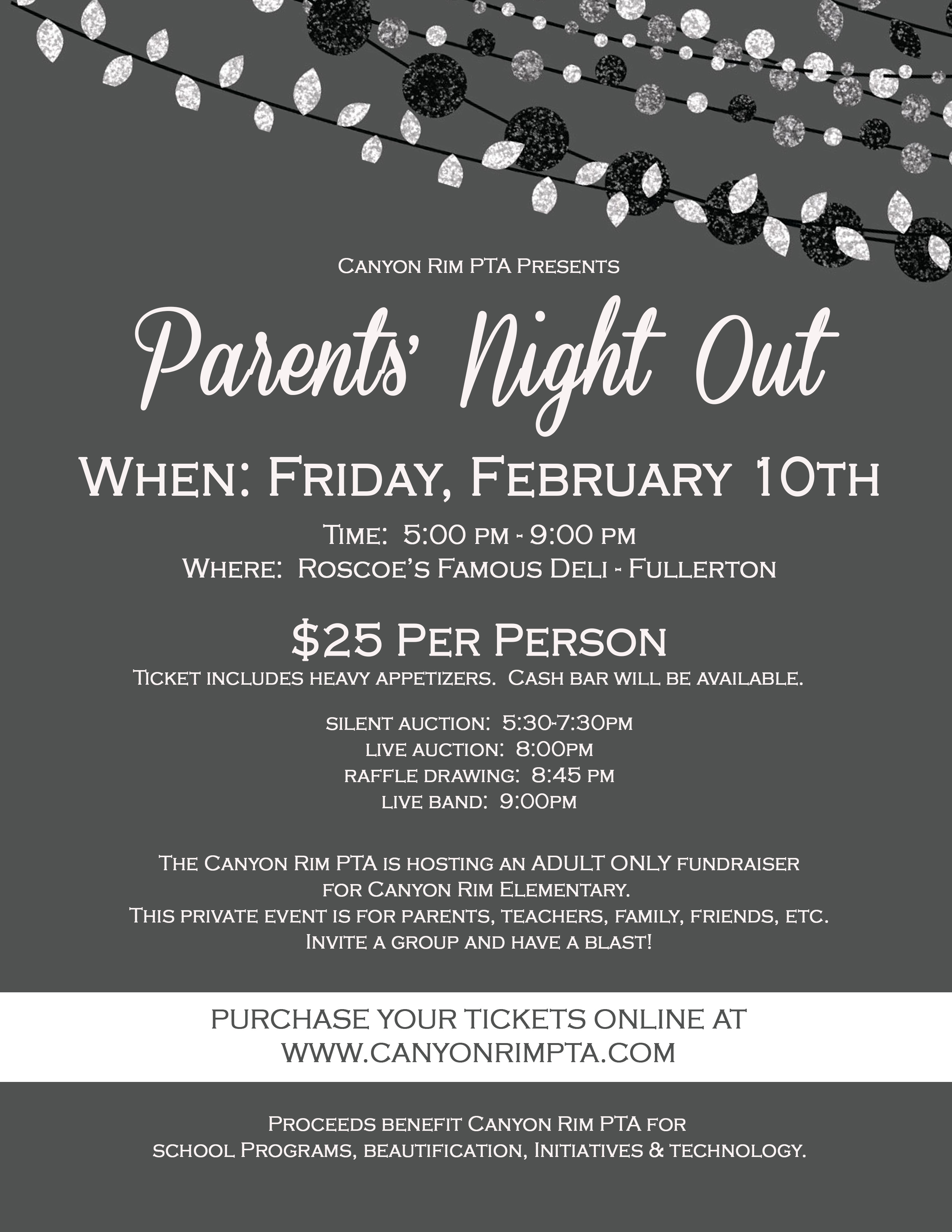 Parents' Night Out » Canyon Rim Elementary PTA
