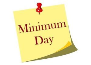 Minimum Day (End of 2nd Trimester)